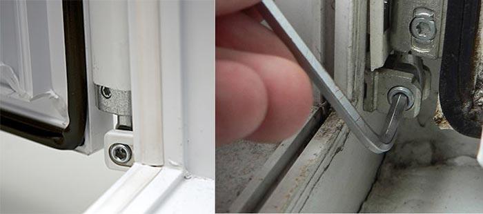 Настройка провисаний окна