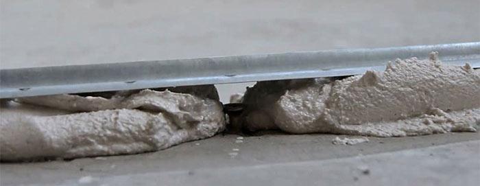 Покрытие цементной стяжкой