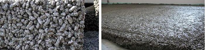 Цемент с керамзитом, смесь