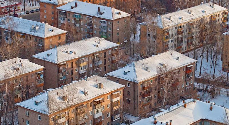 Вид домов сверху