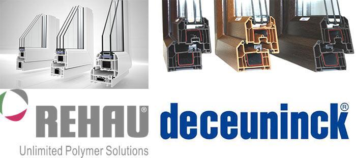 Rehau и Deceuninck профили, сравнение