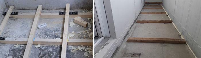 Решение с деревянными лагами