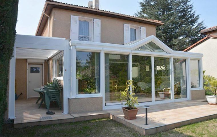 Пример остекления пластиковыми окнами со стеклопакетами (включая крышу)