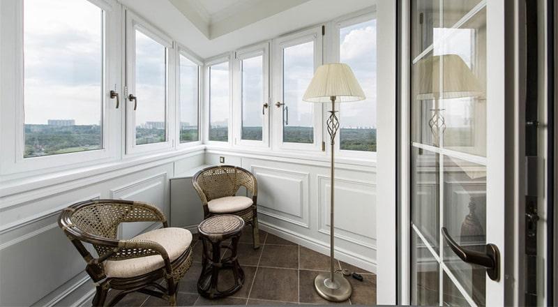 Зона отдыха в квартире: пластиковые балконы и лоджии